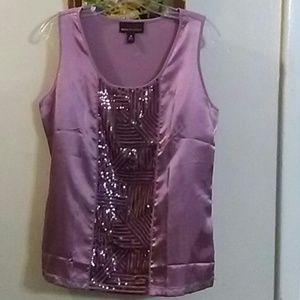 Dana Buchman Amaranth Pink Sequin Top